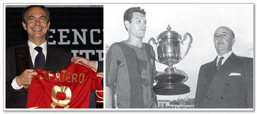 Zapatero y franco futbol