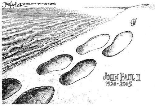 Vida en imagenes de Juan Pablo II y algunas caricaturas